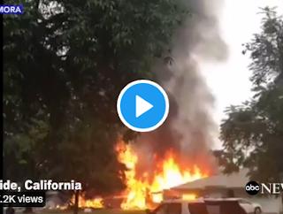 Plane crash in california neighborhood