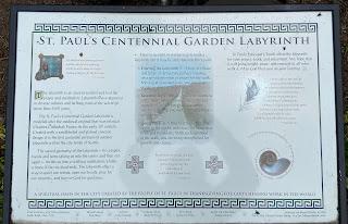 Informational sign on the St. Paul's Centennial Garden Labyrinth.