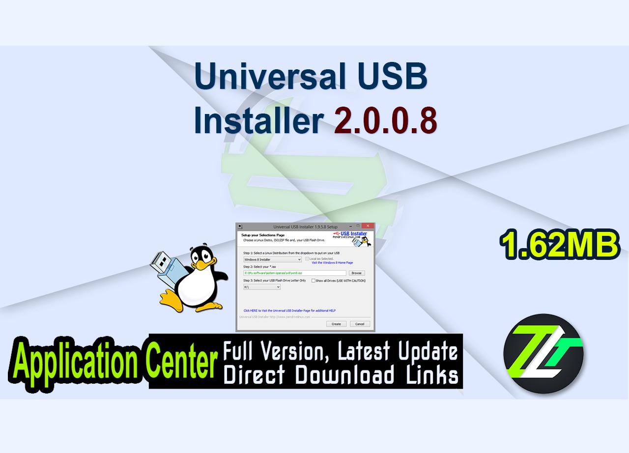 Universal USB Installer 2.0.0.8