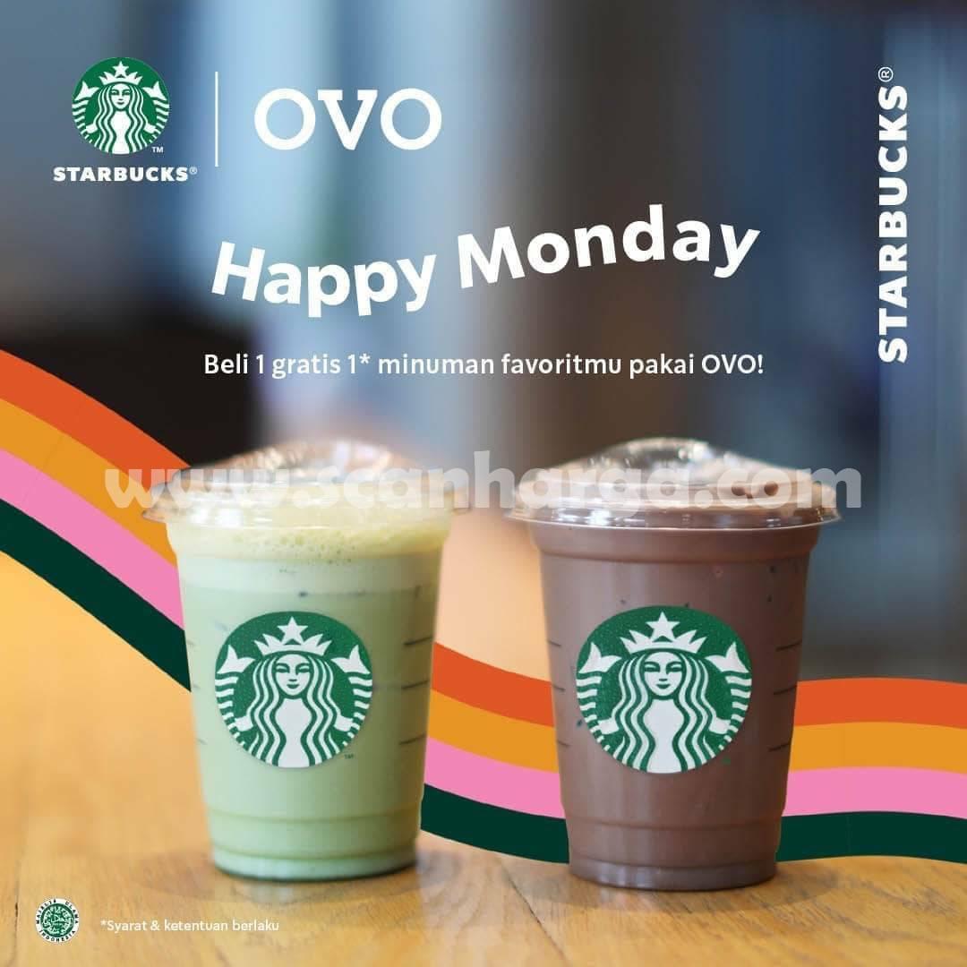 Promo STARBUCKS Happy Monday - Beli 1 Gratis 1 Pakai OVO