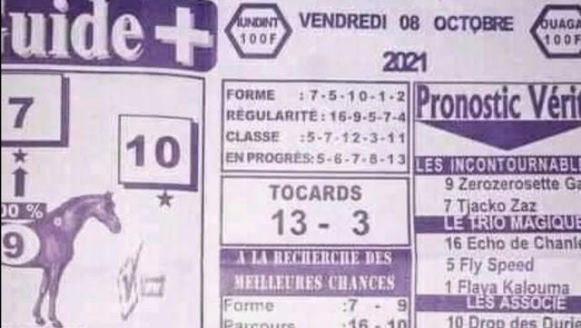 quinté+ Pronostic pmu vendredi Paris-Turf TV-100 % 08/10/2021
