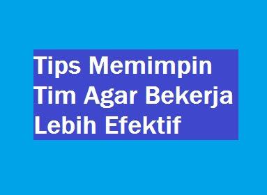 Tips Memimpin Tim Agar Bekerja Lebih Efektif