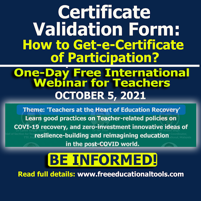 October 5 SEAMEO Webinar Certificate Validation Form | Teachers at the Heart of Education Recovery