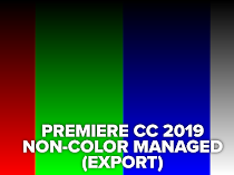 Screen color management in Premiere Pro CC 2020 causes severe banding