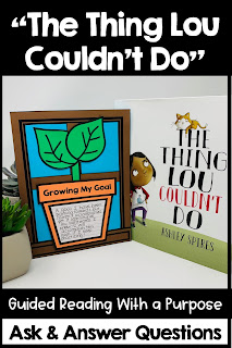 The Thing Lou Couldn't Do Guided Reading growth mindset for kids