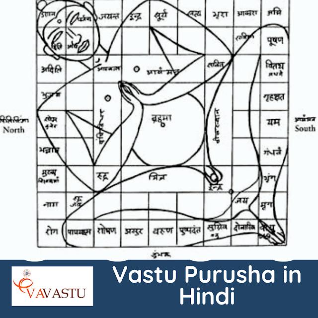 Vastu Purusha in Hindi [Vastu Purusha Mandala]