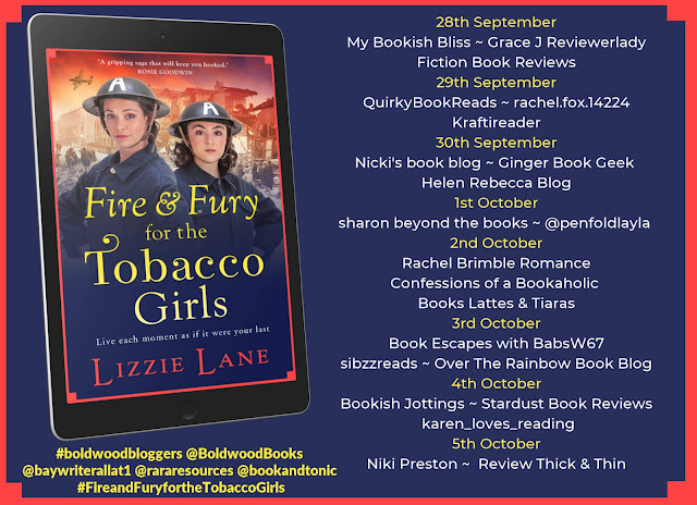 Fire and Fury for the Tobacco Girls by Lizzie Lane book review