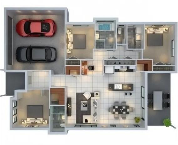 simple low budget modern 3 bedroom house design
