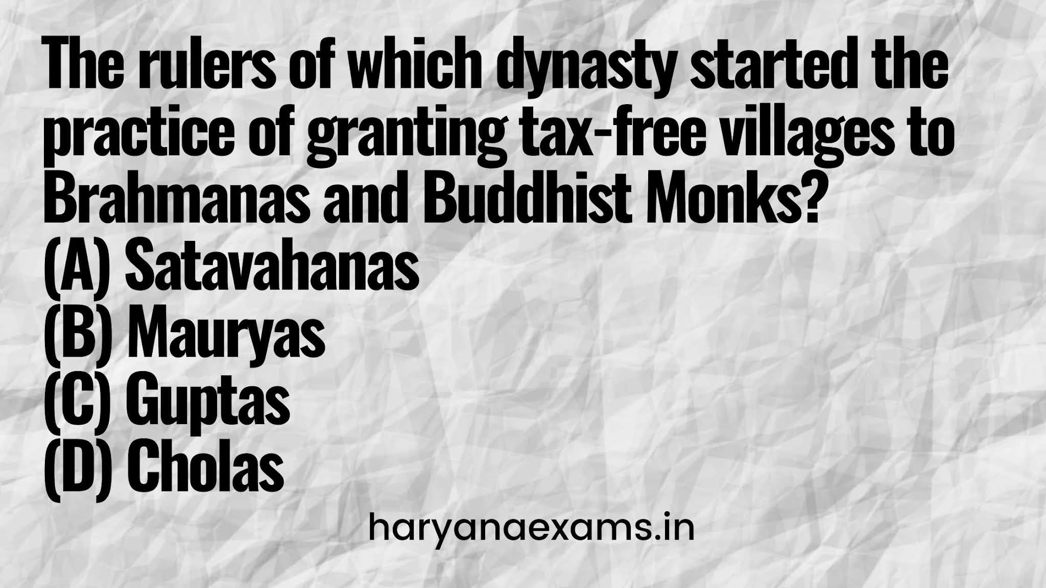The rulers of which dynasty started the practice of granting tax-free villages to Brahmanas and Buddhist Monks?