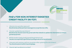 Please find anwers to most of your FAQ's on Non-Interest Targeted Credit Facility (NI-TCF) - NI-TCF Officials