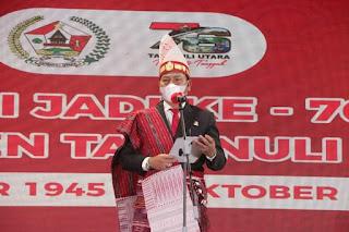 Perayaan Hari Jadi ke-76 Kabupaten Tapanuli Utara, Bupati Ajak Masyarakat Tetap Berkarya.