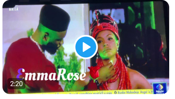 BBNaija: Emmanuel and Liquorose were the highlight of yesterday's dinner party, watch their activities here (video)