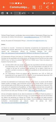 """نشطاء Greenpeace يعترضون باخرة صهريجا محملة ب"""" موكا"""" ..-وثيقة"""
