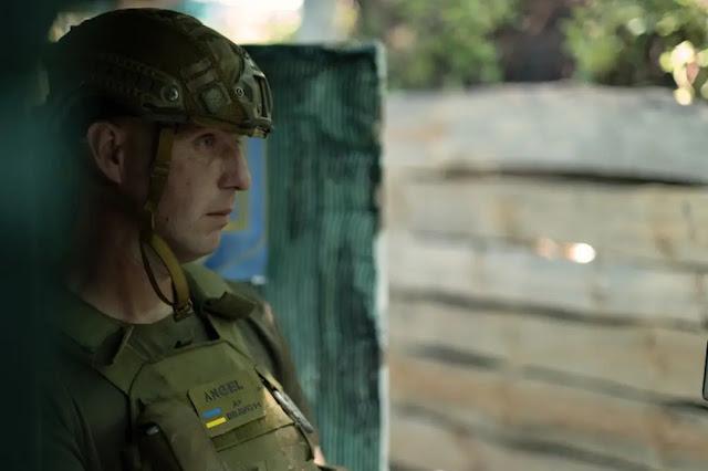 Commander Hrishak at the front line in the Donetsk region, eastern Ukraine. Photo: Al Jazeera