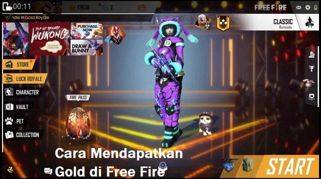Cara Mendapatkan Gold di Free Fire