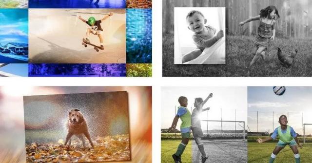 إنشاء عروض شرائح مخصصة لألبومات الصور التالية