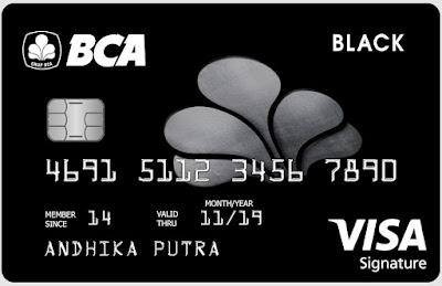 BCA Visa Black Signature