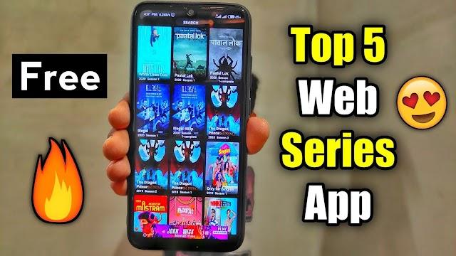 Top 5 Free movies or webseries Apps