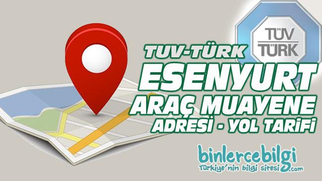 Esenyurt araç muayene istasyonu, Esenyurt araç muayene yol tarifi, Esenyurt araç muayene randevu, adresi, telefonu, online randevu al.