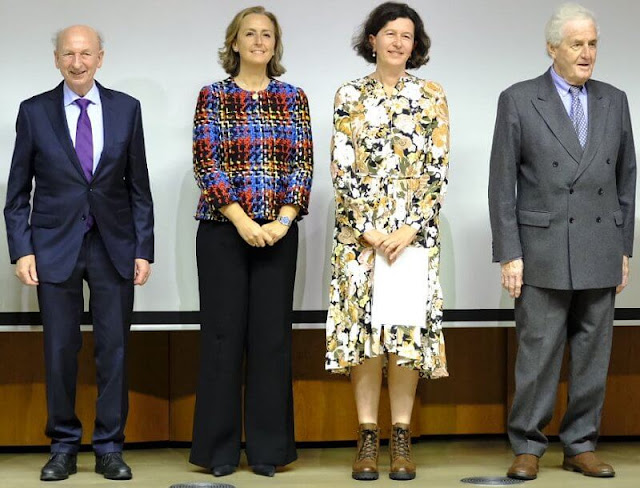 Princess Claire of Belgium, King Albert and Queen Paola. Princess Claire wore a tweed jacket