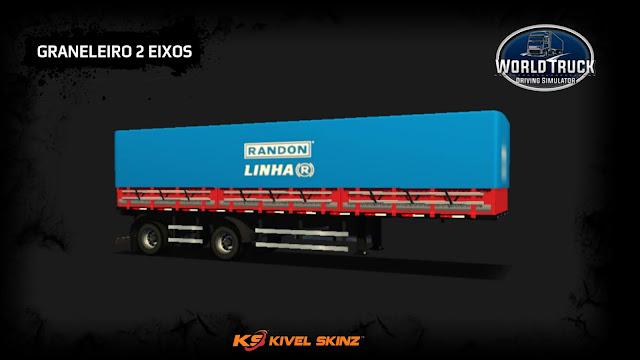 GRANELEIRO 2 EIXOS - VERMELHO COM AZUL