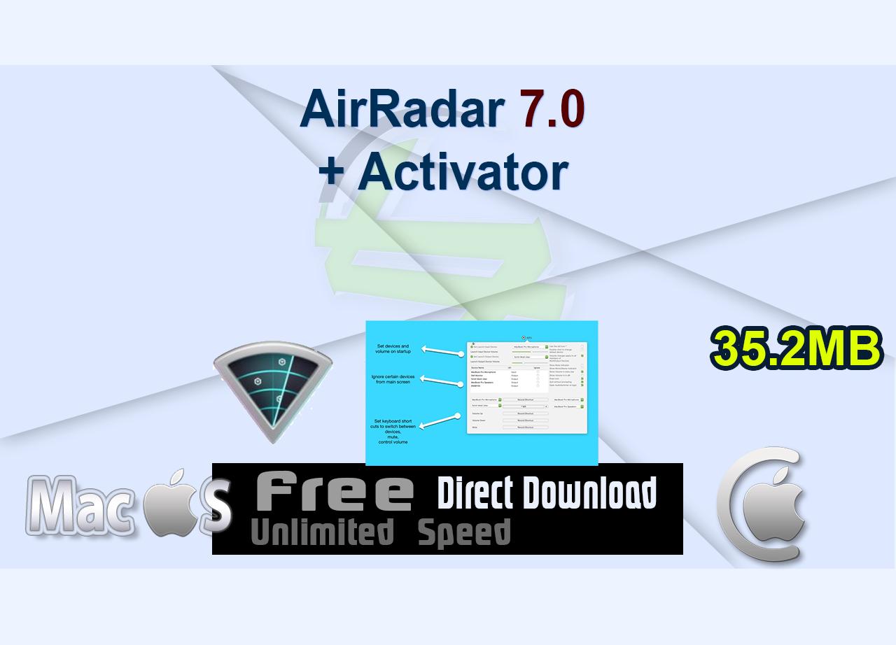 AirRadar 7.0 + Activator _CenterMac