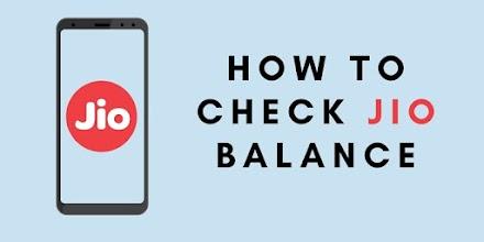 How to check Jio balance, data usage, validity using USSD code, SMS Jio app: