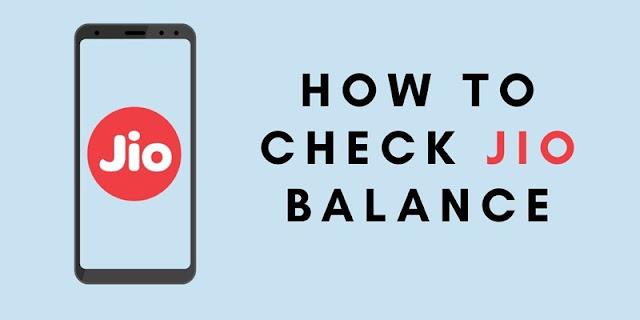 check Jio balance, data usage, validity
