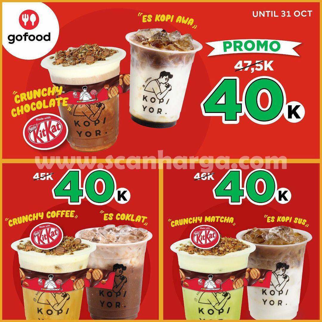 Promo KOPI YOR Bundling Crunchy Series CUMA Rp. 20.000