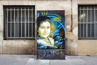 Sunday Street Art : Hommage à Simone Veil - Illustres ! C215 autour du Panthéon - rue d'Ulm - Paris 5