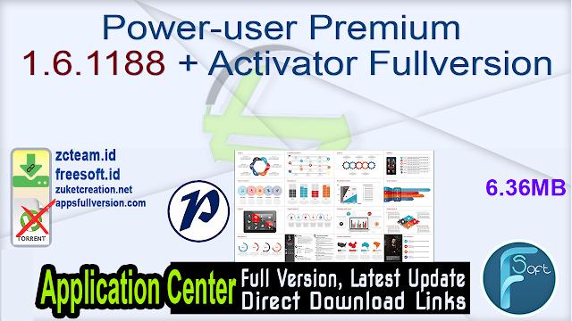 Power-user Premium 1.6.1188 + Activator Fullversion