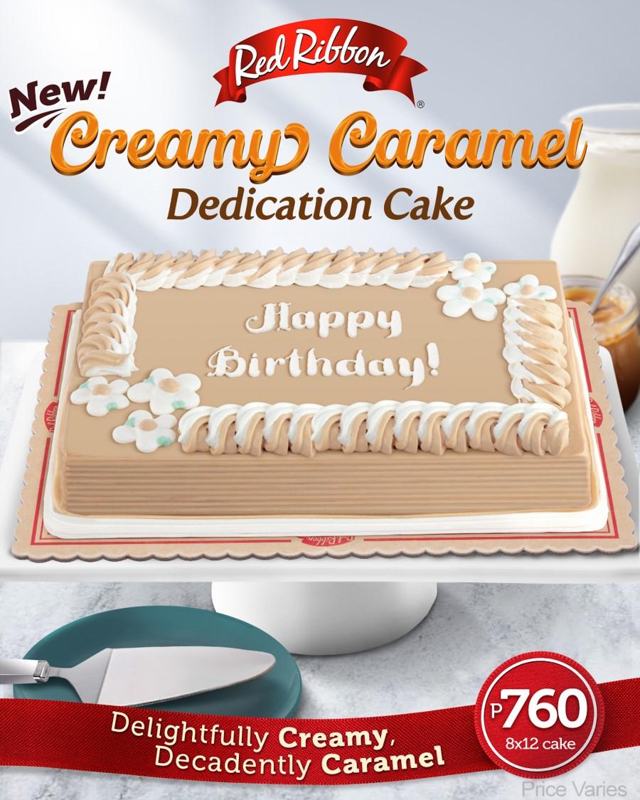 Creamy Caramel Dedication Cake