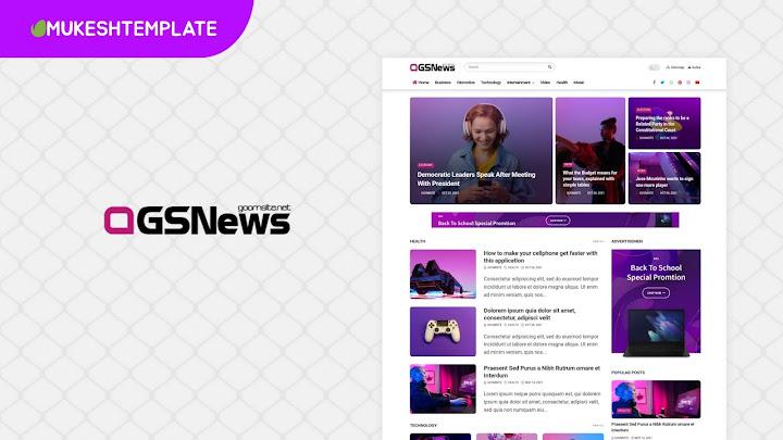 GSNews - Premium News & Magazine Blogger Template