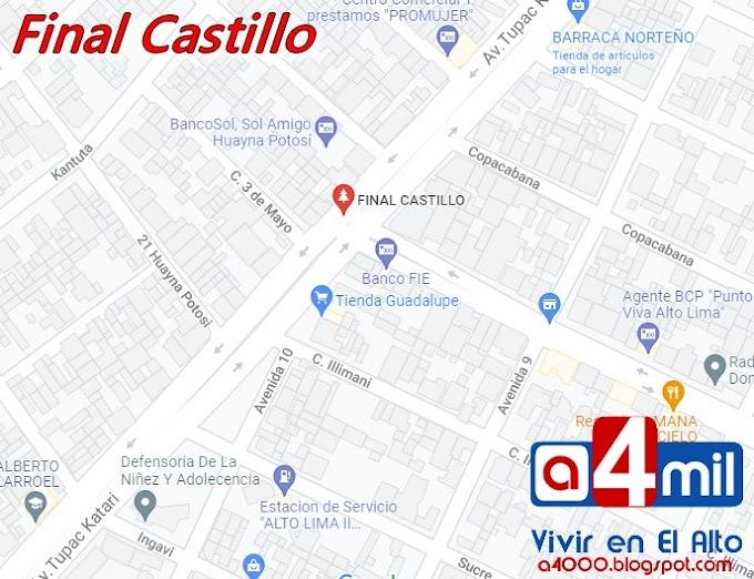 Final Castillo: Un punto de referencia en El Alto