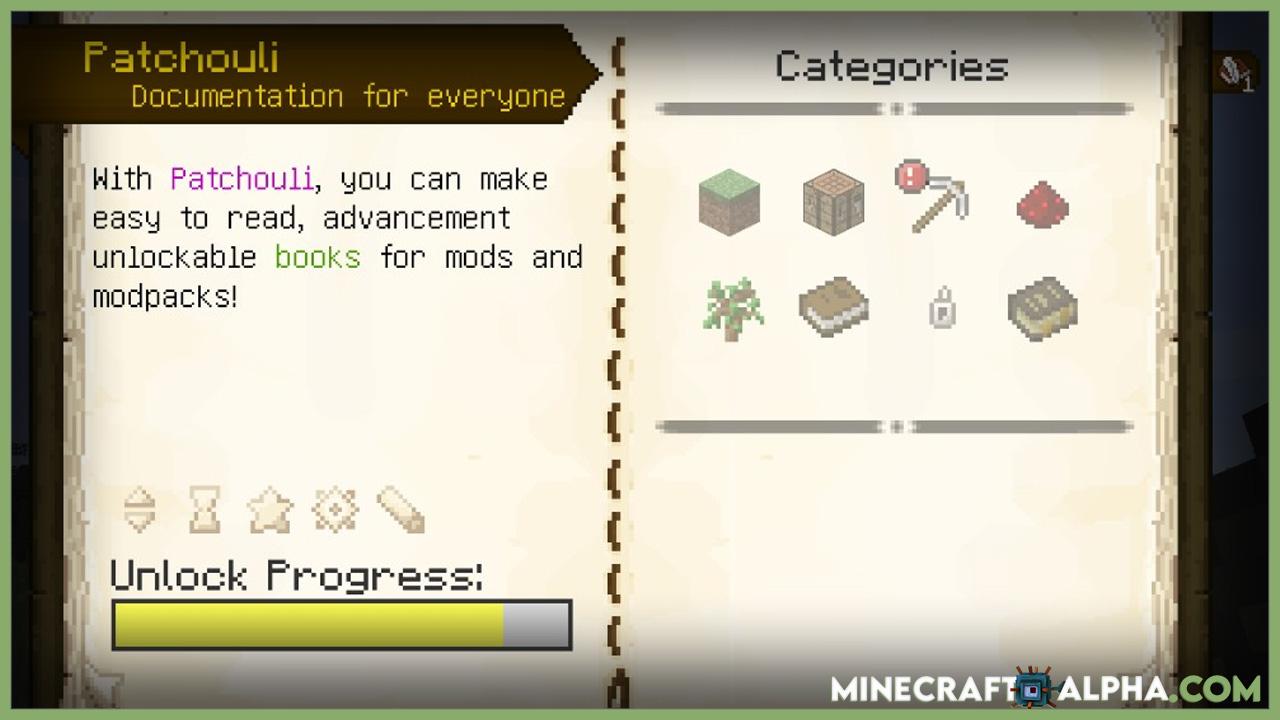 Minecraft Patchouli Mod 1.17.1 (Documentation for Everyone)
