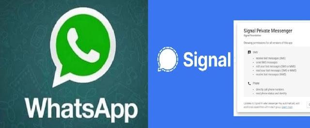 व्हाट्सएप को पीछे कर लोगो के फोन में सिग्नल ऐप ने बनाई अपनी जगह