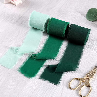 Green Chiffon Ribbons