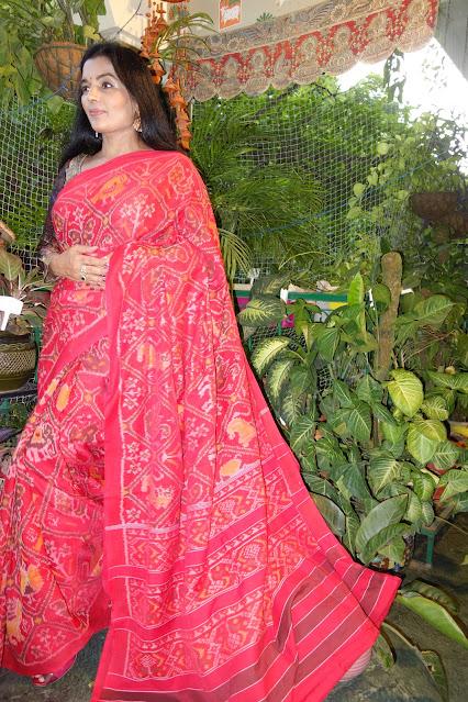 Cotton patola saree