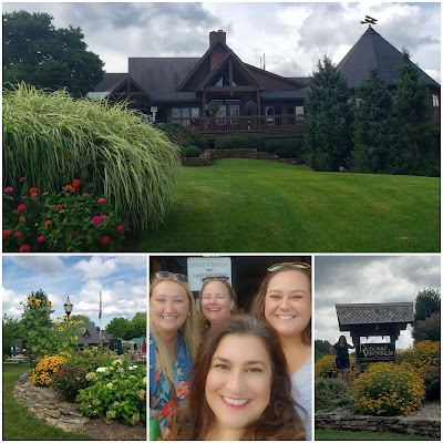 photo collage, wine selfie, debonne winery, ohio winery, girls trip