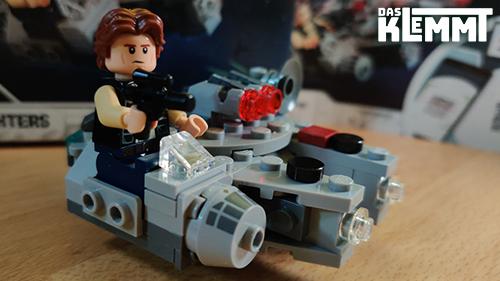 Han Solo im Millenium Falcon LEGO® 75295 - www.dasklemmt.de