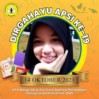 Twibbon atau Bingkai Foto HUT APSI (Asosiasi Pengawas Sekolah Indonesia), 14 Oktober 2021