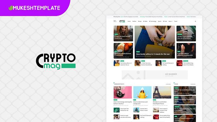 Crypto Mag - Premium Magazine Blogger Template