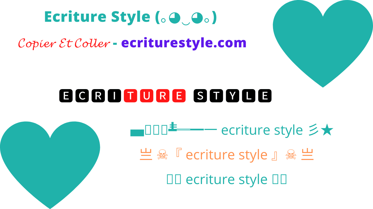 ecriture style