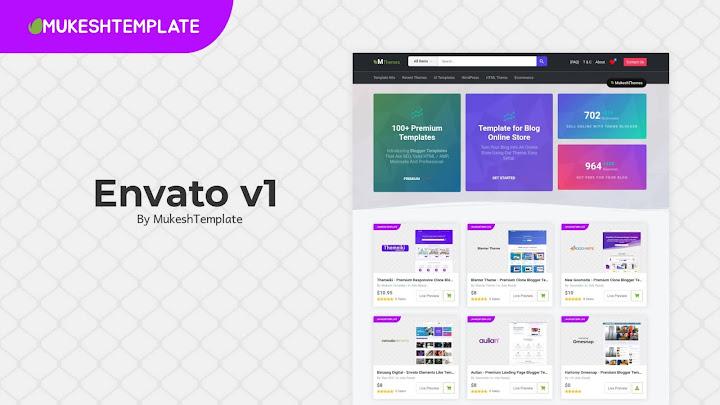 Envato v1 - Premium Responsive Blogger Template