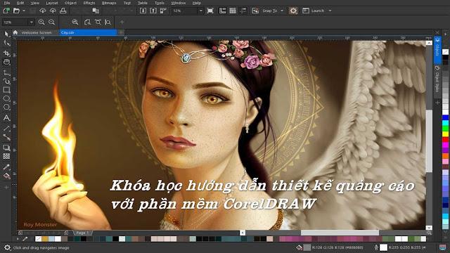 Khóa học hướng dẫn thiết kế quảng cáo với phần mềm CorelDRAW .