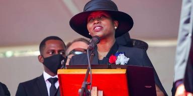 Martine Moïse denuncia a primer ministro Haití por muerte de su esposo