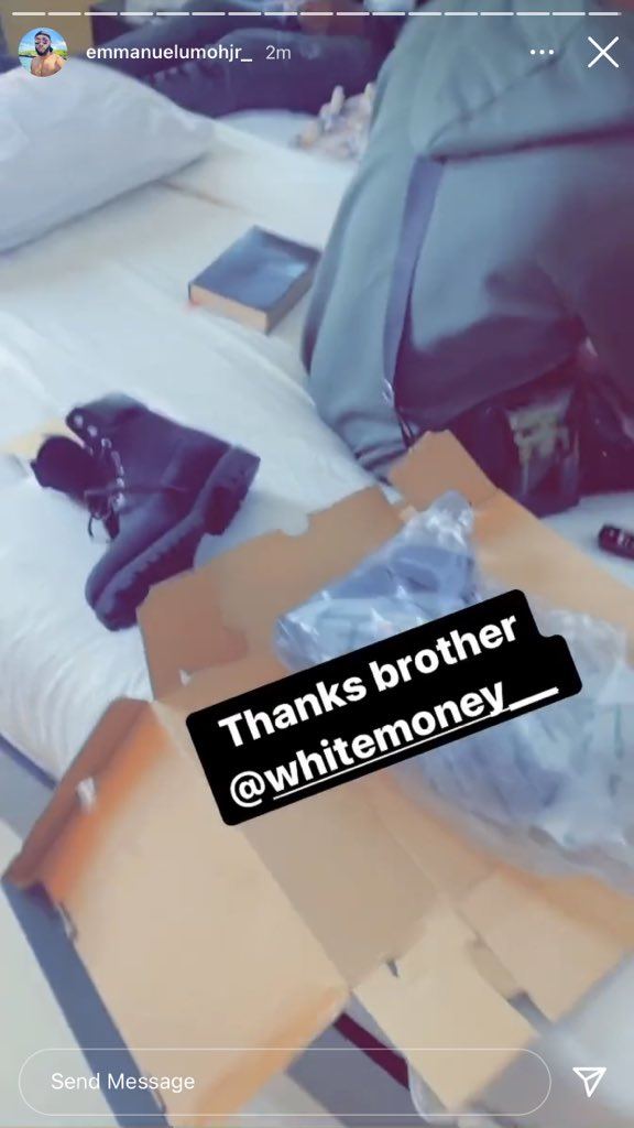 Check out the lovely gift Whitemoney gave Emmanuel that elicited reactions (Pictures)