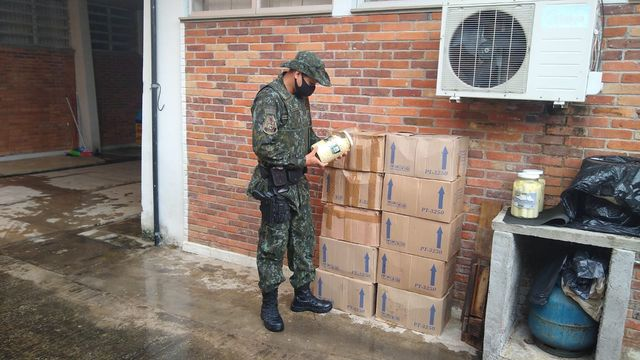 Policia Ambiental Flagra Transporte Irregularde Palmito Industrializado Pupunha em Sete Barras