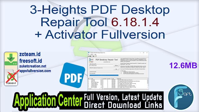 3-Heights PDF Desktop Repair Tool 6.18.1.4 + Activator Fullversion