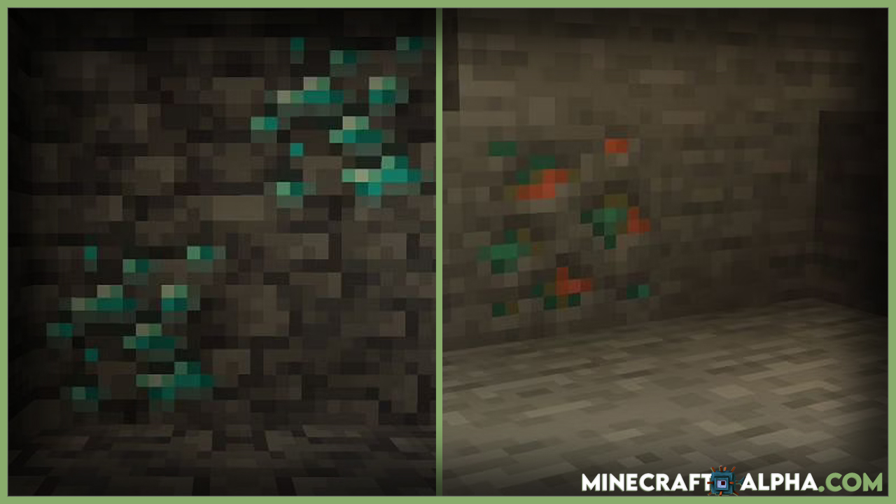 More adjustments to ore distribution have been made in Minecraft 1.18 snapshot 21w40a.